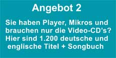 Mietangebot 1200 x Karaoke DVD deutsch
